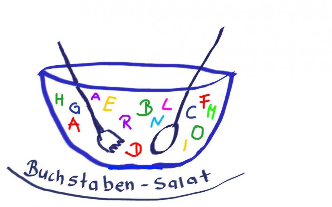 Ernergizer in Online-Seminaren: Buchstabensalat