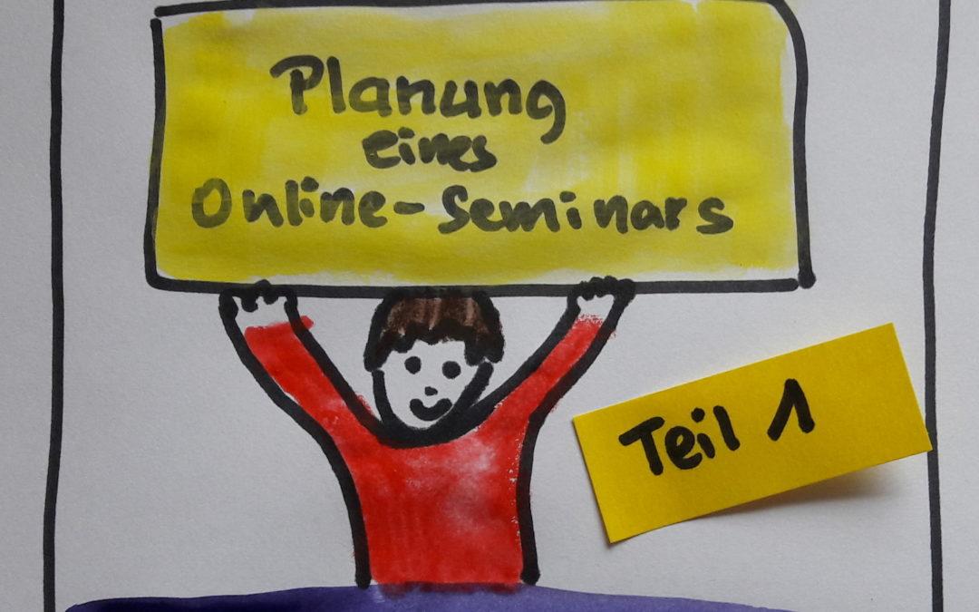 Planung eines Online-Seminars, Teil 1
